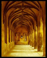 A corner of New Court, St John's College Cambridge (A.I.D.A.N.) Tags: stjohnscollegecambridge cambridge college canon 5d mark ii canon5dmarkii lamp windows stone 19th century