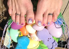 April 2013 Easter Toes (martha.harmon) Tags: rabbit bunny bunnies feet easter foot toes toe pedicure rabbits toering easterbunny nailart toenail naildesign