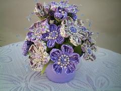 100_4364 (Alba Aragão) Tags: flores fuxico buquê tecido arranjo