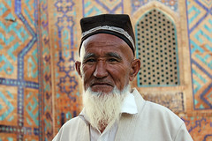 A portrait from Uzbekistan (1) (Samarkand) (Frans.Sellies (off for a while)) Tags: world old trip travel vacation portrait hairy holiday man heritage tourism beautiful lines wonderful beard daylight spring nice fantastic perfect dad tour sad place serious postcard awesome father sightseeing grand visit location tourist best unesco journey destination sight traveling lovely emotional visiting exploration majestic portret incredible emotions uzbekistan samarkand wrinkles wrinkle touring breathtaking frhling vr ouzbekistan oezbekistan