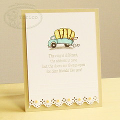 TSG207 - Moving On! (Torico27) Tags: car wheel truck puppy handmade move card pup scallop cas tsg thereshegoes