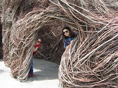 Patrick Dougherty sculpture (moonlightbulb) Tags: zoo northcarolina nczoo asheboro