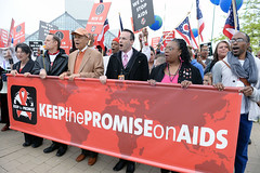 "AIDS Healthcare Foundation's ""Keep The Promise On AIDS"" March an (aidshealth) Tags: usa cleveland oh"
