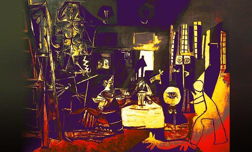 """Meninas, iconósfera de Diego Velazquez (1656), estudio de Francisco de Goya y Lucientes (1778), paráfrasis y versiones Pablo Picasso (1957). • <a style=""""font-size:0.8em;"""" href=""""http://www.flickr.com/photos/30735181@N00/8746857663/"""" target=""""_blank"""">View on Flickr</a>"""