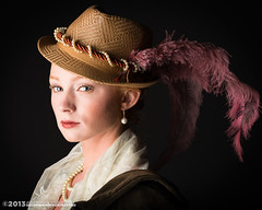 Timeless Beauty (andy_57) Tags: beauty hat painting glamour lace feather headshot pearls oldmaster oldfashioned d800 theattic titian anachronistic victoriascott 105mmf2dc