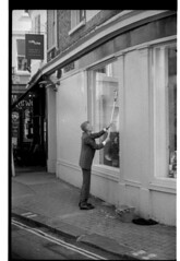 When I'm cleaning windows (moo pa) Tags: street bw film brighton caffenol