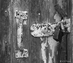 Under Lock & Key (katsrcool (Kool Cats Photography)) Tags: old oklahoma handle peeling paint doors lock locks doorhandle edmond oldpaint yabbadabbadoo canont3i