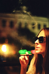 night smoke (devvepo) Tags: film night 35mm olympus smoker olympusom4