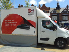 Virgin Media van - Kings Heath Village Square