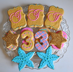 3rd Birthday Cookies