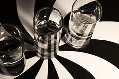 Shotglass Swirl (Rebecca_Renee) Tags: red white black water glass photo cool swirl shotglass