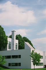 Bennington College (L. Knapp) Tags: blue trees windows summer sky white house color green film college nature architecture clouds outside outdoors vermont dorm shapes bennington 35m