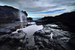 Nakalele Blowhole (Conrad...) Tags: ocean sky seascape water landscape hawaii nikon rocks waves pacific maui pacificocean flowing graduated leefilter nikond5100
