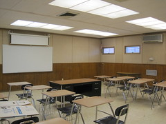 164: Checking out my classroom for next year, totally stoked on the wood paneling (srsldy) Tags: classroom 365 3652013