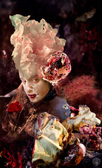 Le sucre de la terre (Marine Lupercale) Tags: red fruit composition digital salad women body digitalart violet manipulation sugar foliage suit montage cabbage moldiness