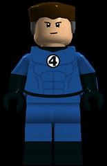 Mr. Fantastic (Stretched Variant) (911Bug) Tags: blue black reed fantastic lego mr mister minifig marvel richards minifigure