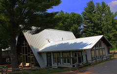 Custom white standing seam metal roof for Mt. La Crosse