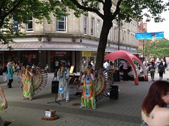 Colourful Fancy Pan Pipe Performers In Bolton (Tanvir's Pics 2010) Tags: square town hall centre pipe victoria bolton pan performers victoriasquare uploaded:by=flickrmobile flickriosapp:filter=nofilter