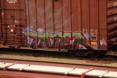 TATER (The Braindead) Tags: art minnesota train bench photography graffiti painted tracks minneapolis rail explore beyond the