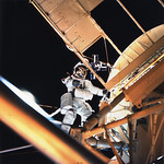 Astronaut Owen Garriott Performs EVA During Skylab 3