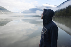 Lillooet Lake (m.tones) Tags: morning camping portrait lake canada mountains water glass fog digital forest landscape photography nikon bc surrealism smoke surreal environmental columbia mount british leisure nikkor dslr pemberton currie lillooet 2470mm f28g d700