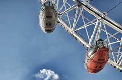LondonEye. (Plodicus) Tags: sky london fuji londoneye tourist southbank fujifilm attraction xe1