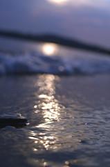 skiahos (lydia.a) Tags: sunset sea summer sun beach rock 35mm nikon waves nikkor f18 skiathos marathas d5100