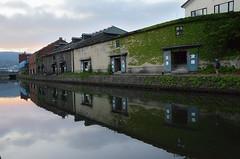 Otaru Canal (Electra K. Vasileiadou) Tags: travel sunset sky reflection water japan clouds buildings canal nikon hokkaido   otaru   18200mm   d7000 gettyimagesjapan13q3