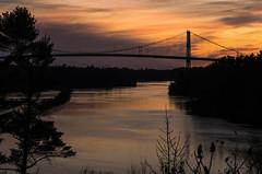 BridgeSunset-2 (kylefmdavies) Tags: bridge usa canada islands suspension ivy lea 1000 1000islands stlawrenceriver