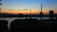 Bob Kerrey Pedestrian Bridge (Nelo Hotsuma) Tags: bridge river lights nebraska bob pedestrian cable iowa missouri council omaha bluffs kerrey