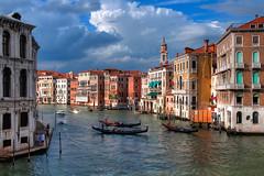 Canal Grande (gerhard.1962) Tags: italien venice italy rialtobridge nikon view september venedig hdr rialto gondel ansicht canalgrande d90 photomatix 2013 nikond90 differentexposures