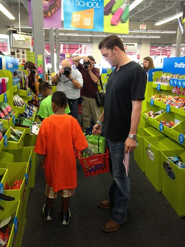 Jake shopping with kids