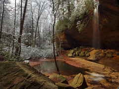 Off The Beaten Path (Bill Fultz) Tags: waterfall hdr redrivergorge danielboonenationalforest kentuckywaterfall fultzfotos copperascreekfalls sandstonerecess