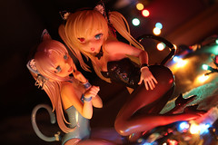 Stardust in my eyes (Grishnkh) Tags: christmas girls cats anime cute sexy scale female toy toys photography japanese bokeh sensual kawaii figure blonde loli moe neko figurine figures catears pvc ecchi catgirl nekomimi animegirl blondhair catgirls lolicon imouto haganai