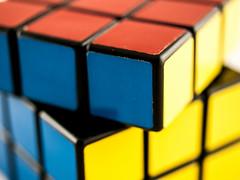 Rubik's Cube (wwarby) Tags: macro slr toys games olympus indoors whitebackground digitalcamera e3 zuiko digitalslr rubikscube 35mmmacro zuikodigital olympuse3