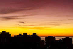 Mediterranean Sunrise (k009034) Tags: morning travel autumn sea sun building beautiful silhouette sunrise canon landscape photography eos 350d spain scenery mediterranean balcony andalucia rebelxt antenna fuengirola beautifulearth