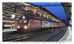 Re 460 081-3 Lausanne (CC72080) Tags: train sbb lausanne locomotive cff re460 interrégio {vision}:{sky}=0745 {vision}:{clouds}=0624 {vision}:{outdoor}=0939 {vision}:{sunset}=0622 {vision}:{ocean}=0515 {vision}:{car}=0673