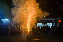 LIU_8528 (louistop()) Tags: lighting city sky streets festival temple fireworks sparklers abroad rockets visitors  wu beehive  sounds lanternfestival firecrackers  beehives   yanshui thunderous     2013    wutemple   yanshuibeehiverocketsfestival