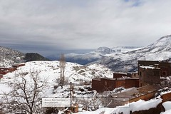 The View from the Berber Village (doublejeopardy) Tags: snow morocco berber atlasmoutains