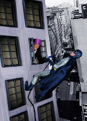 Penguin and Bat Rope 51651 (Brechtbug) Tags: show windows shadow west adam bird window hat television wall set umbrella dark comics toy toys penguin book newspaper dc tv 60s comic shadows with purple action five top cigarette character release sunday bat formal funnies super rope 1966 wear adventure plastic suit climbing national tophat hero figure batman knight meredith 1960s villain monocle section villains oswald holder publication burgess the periodical cobblepot 2013
