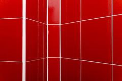 Linee | Lines (IvanDurso) Tags: light red white abstract lines tile torino view outdoor geometry perspective indoor vista forms february astratto rosso bianco forme prospettiva febbraio 2014 linee 30mm mattonelle rette canon600d