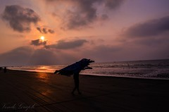 Starting of a new adventure (Ami VONDo) Tags: life new travel sea people fish man men beach photography dawn nikon day who catching fisher lives bangladesh beside starting mehrab saifuzzaman kuyakata d5100