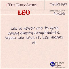 """The Daily Astro!"" Leo Astrology Fact for Thursday May 8th (iFate.com) Tags: leo horoscope astrology ifate dailyastro"