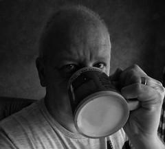 Selfie (And Smith) Tags: blackandwhite selfie projectflickr fujifilmhs50