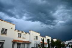 Threat from above (Thomas Roland) Tags: travel santiago summer sky cloud storm america dark de mexico sommer central himmel el tourist amerika thunder pueblito quertaro mellemamerika