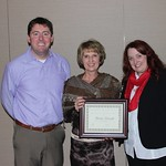 "<b>Decorah Chamber of Commerce Outstanding Community Service Award</b><br/> Brian Huinker, DCC president, with Wanda Hemesath, recipient of Decorah Chamber's Outstanding Community Service award, and Nikki Brevig, DCC Executive Director.<a href=""http://farm8.static.flickr.com/7320/16187904320_42a31e5981_o.jpg"" title=""High res"">∝</a>"