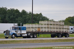 Kenworth W900A (Trucks, Buses, & Trains by granitefan713) Tags: tractor kw 18wheeler flatbed kenworth tractortrailer bigrig w900 w900a trucktractor kenworthtruck kenworthw900 amodelkenworth kenworthw900a
