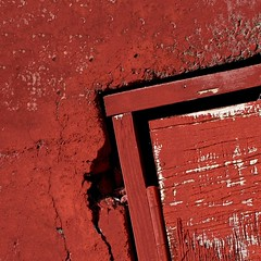 """choose your corner, pick away at it carefully..."" (msdonnalee) Tags: red rot wall corner square rouge rojo decay vermelho minimalism minimalismo rosso minimalist  rd lessismore punainen minimalisme abstractreality minimalismus      mininalisme"