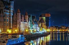 Poland (Smo_Q) Tags: longexposure night sadness loneliness crane poland polska polen gdansk polonia gdask  uraw    pentaxk5