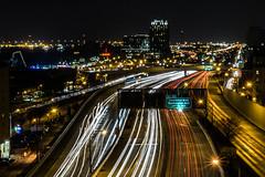 Philly Night Lights (annlkiefer) Tags: philadelphia benfranklinbridge nighttraffic